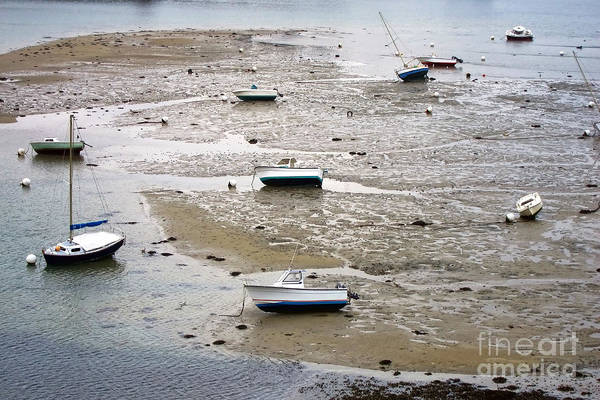 Photograph - Fishing Boats At Low Tide by Olivier Le Queinec