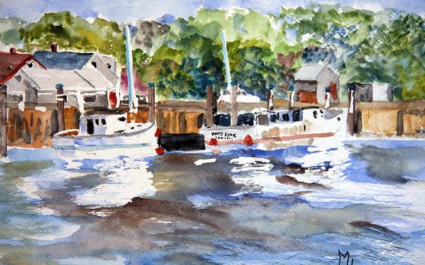 Fishing Boats At Rock Harbor Art Print