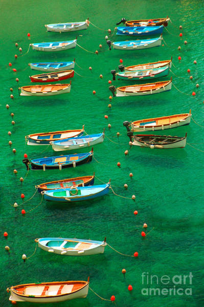 Italy Photograph - Fishing Boats In Vernazza by David Smith