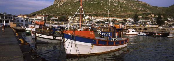 False Color Wall Art - Photograph - Fishing Boats Moored At A Harbor, Kalk by Panoramic Images