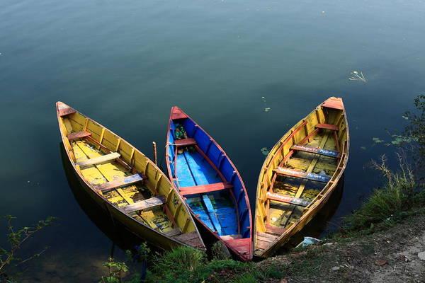 Photograph - Fishing Boats - Nepal by Aidan Moran