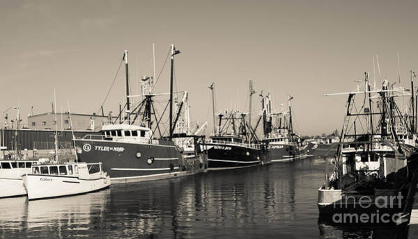 Photograph - Fishing Boats - New Bedford Pier 2 by Andrea Anderegg