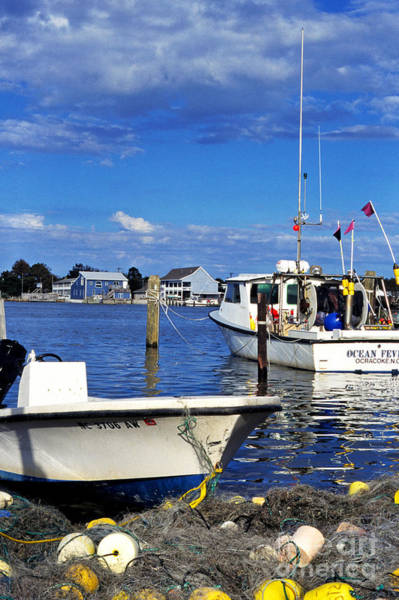 Photograph - Fishing Boats Ocracoke Island by Thomas R Fletcher