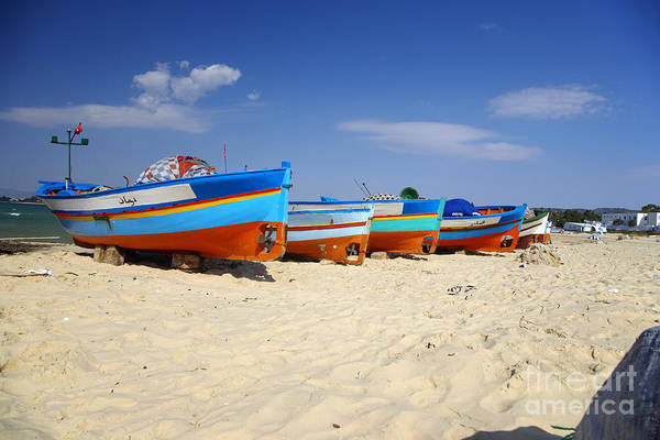 Hammamet Photograph - Fishing Boats by Premierlight Images