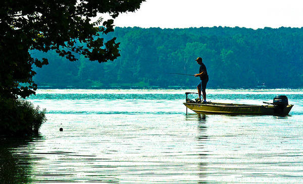 Fishing Crab Orchard Lake Art Print