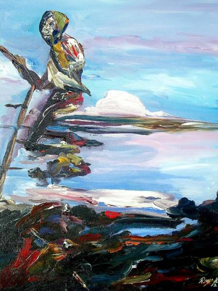 Painting - Fishing Day by Ray Khalife