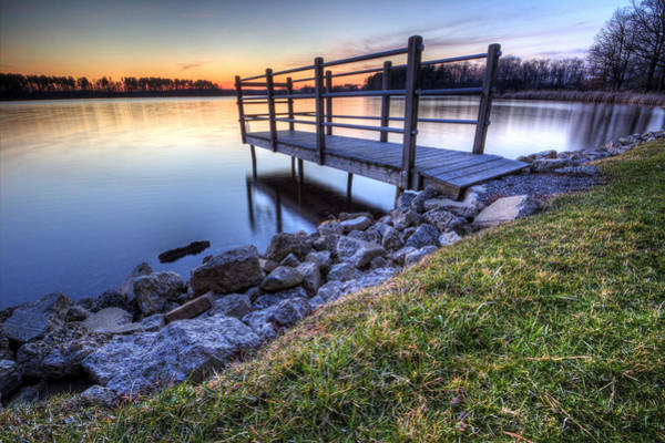 Photograph - Fishing Dock At Sunset by David Dufresne
