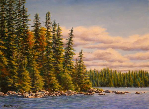 Wall Art - Painting - Fishing Eagle Island by Robert Perrish