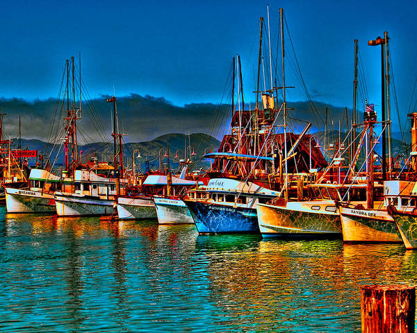 Photograph - Fishing Fleet At Suns Setting by William Havle