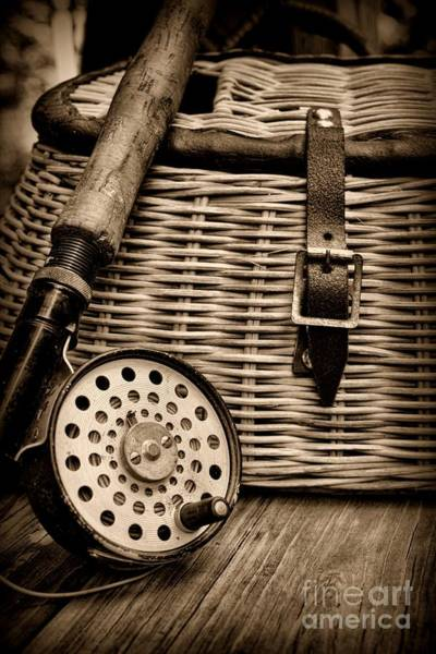 Wall Art - Photograph - Fishing - Fly Fishing - Black And White by Paul Ward