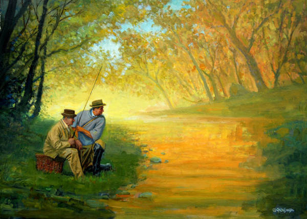 Painting - Fishing Friends by Mel Greifinger