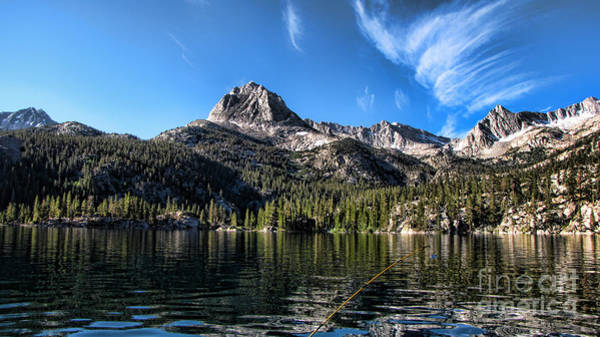 Fish Pond Photograph - Fishing In Lake Sabrina by Peter Awax