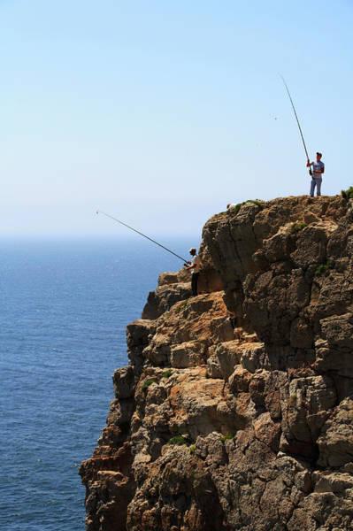 Sagre Wall Art - Photograph - Fishing In Sagres, Portugal by Darron R. Silva