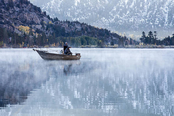 Photograph - Fishing Into Silver by Priya Ghose