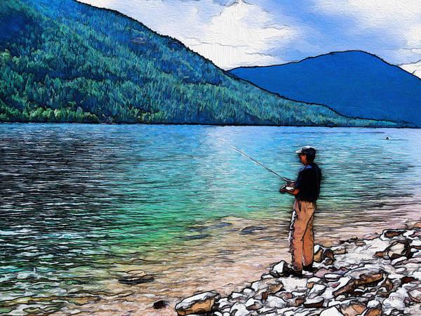 Angling Art Photograph - Fishing by Kathy Bassett