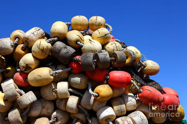 Photograph - Fishing Net Floats by James Brunker