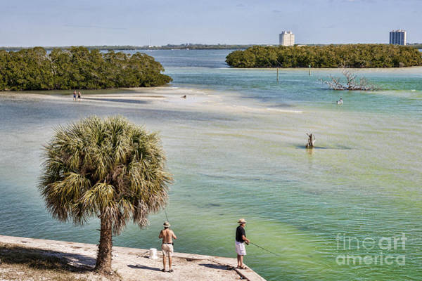 Wall Art - Photograph - Fishing On Estero Bay Near Fort Myers Beach Florida by William Kuta