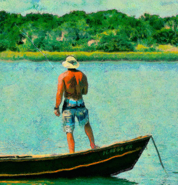 Fishing On The Matanzas Art Print