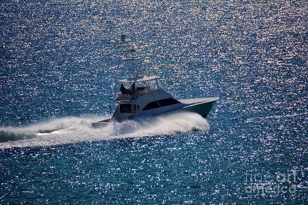 Powerboat Photograph - Fishing On The Silver Sea by Henry Kowalski