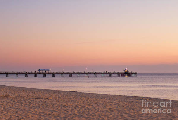 Photograph - Fishing Pier In Lauderdale By The Sea - At Sunrise by Les Palenik