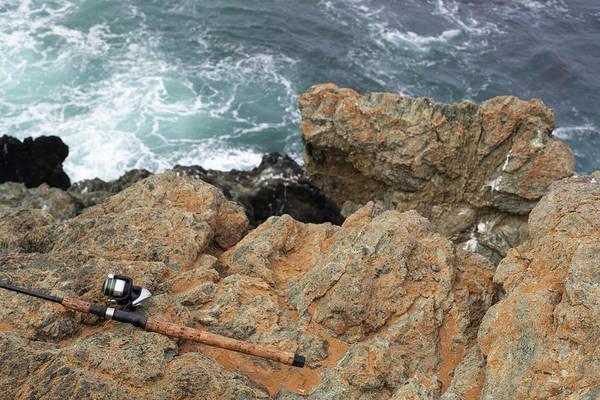 Rod Taylor Photograph - Fishing Pole At Big Sur by Taylor Zann