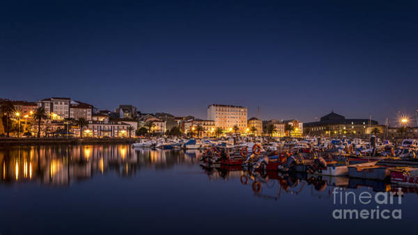 Photograph - Fishing Port Of Ferrol By Night Galicia Spain by Pablo Avanzini