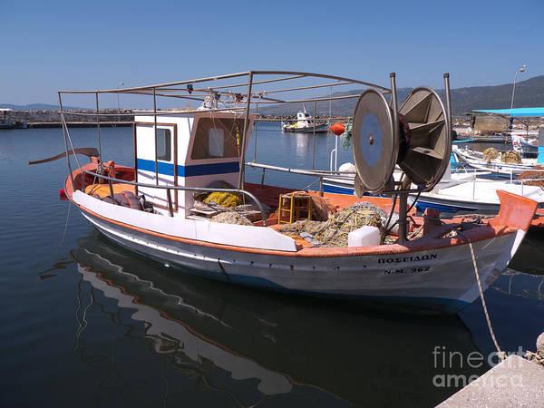 Photograph - Fishing Reflections In Greece by Brenda Kean