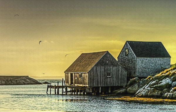Halifax Nova Scotia Digital Art - Fishing Shacks At Sunset by Ken Morris