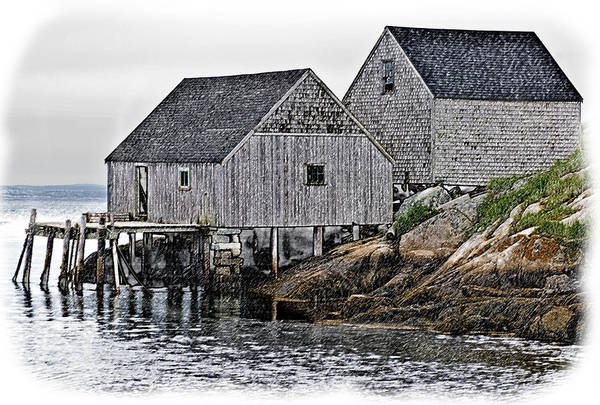 Photograph - Fishing Sheds At Peggy's Cove by Gene Norris