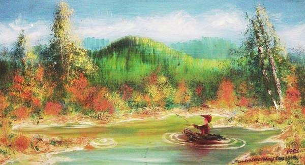 Leclair Painting - Fishing by Suzanne  Marie Leclair