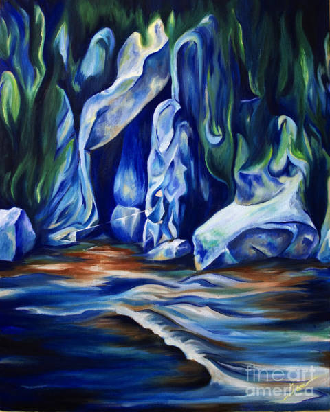 Wall Art - Painting - Fishing The River by Jen Callison