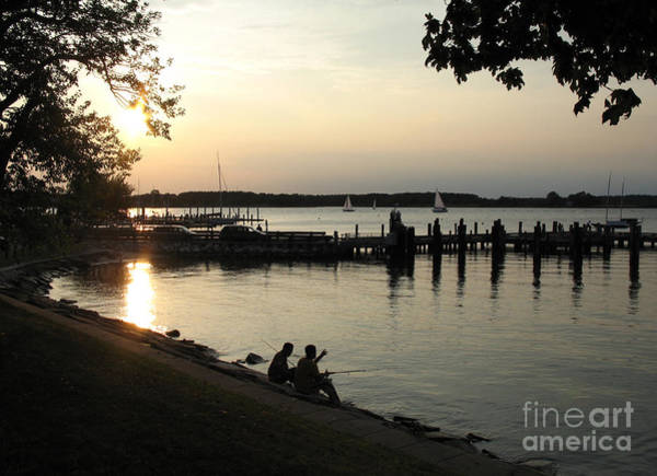 Photograph - Fishing The Tred Avon At Twilight In Oxford Maryland by William Kuta