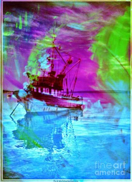 Wall Art - Painting - Fishing Trawler by PainterArtist FIN