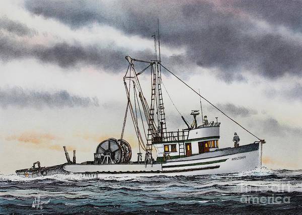 Tacoma Painting - Fishing Vessel Arizona by James Williamson