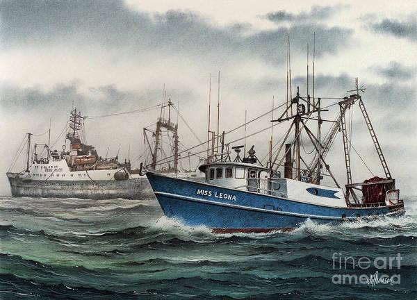 Vessel Painting - Fishing Vessel Miss Leona by James Williamson