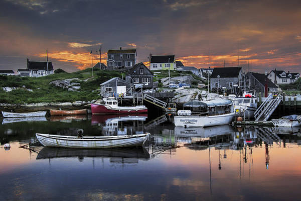 Photograph - Fishing Village At Sunrise by Randall Nyhof