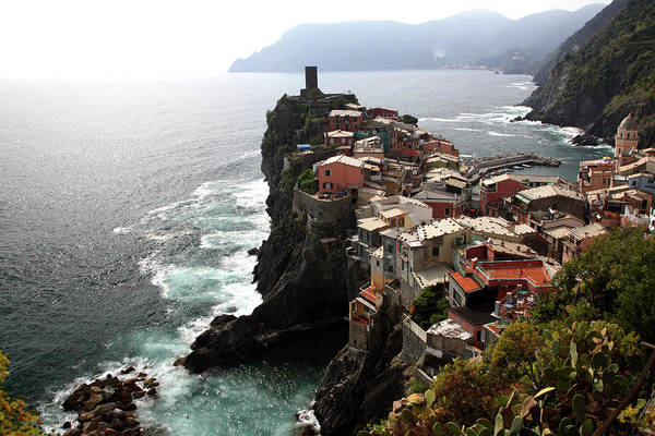 Vernazza Photograph - Fishing Village Of Vernazza, Looking by Bruce Yuanyue Bi