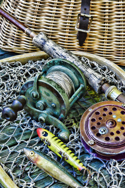 Fly Fishermen Photograph - Fishing - Vintage Fishing Gear by Paul Ward