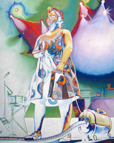 Wall Art - Drawing - John Fishman And Vacuum by Joshua Morton