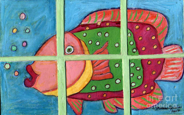 Painting - Fishy by Marlene Robbins