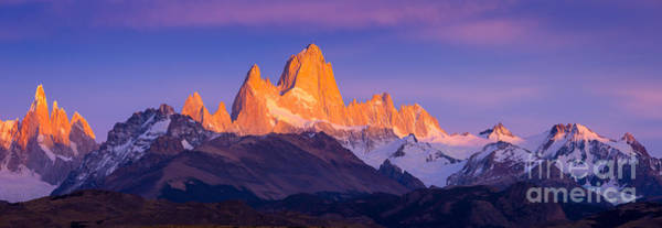 Photograph - Fitz Roy Dawn Panorama by Inge Johnsson