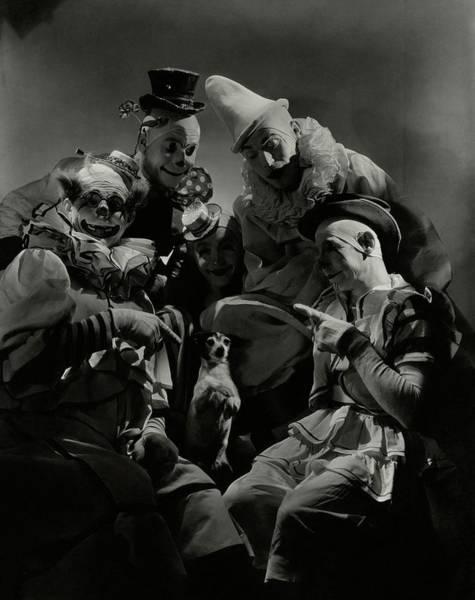 Pet Portraits Photograph - Five Circus Clowns by Lusha Nelson