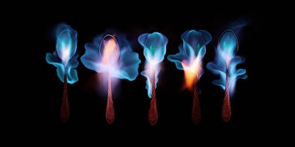 Wall Art - Photograph - Five Magic Spoons  by Floriana Barbu