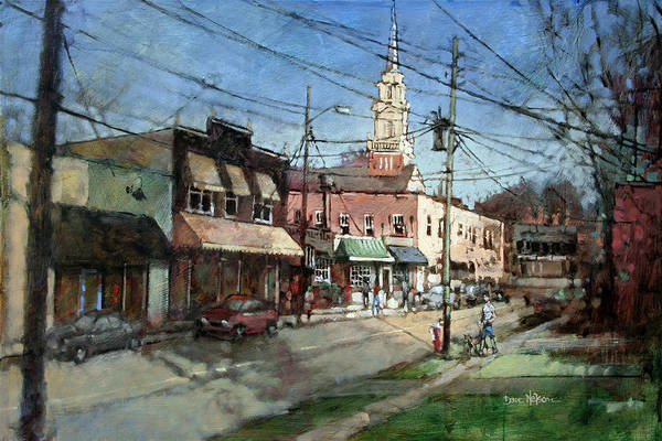 Wall Art - Painting - Five Points Evening by Dan Nelson