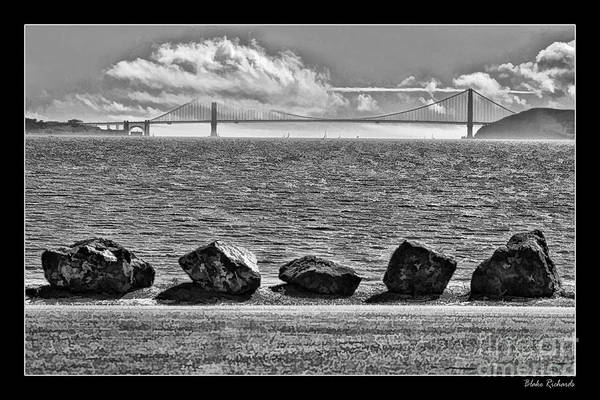 Photograph - Five Rocks And The Golden Gate  by Blake Richards