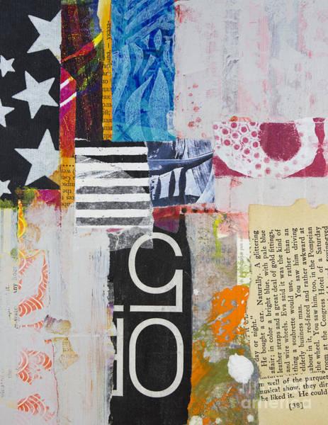 Stripe Mixed Media - Five Stars by Elena Nosyreva
