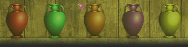 Dehner Digital Art - Five Vases One Flower  by David Dehner