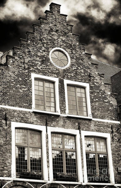 In Bruges Photograph - Five Windows In Bruges by John Rizzuto