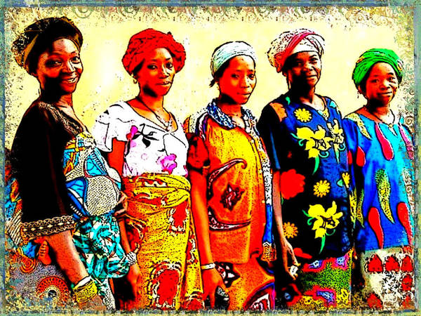 Digital Art - Five Women by Karen Buford