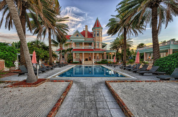 Queen Anne Style Photograph - Southernmost House Key West by Frank J Benz